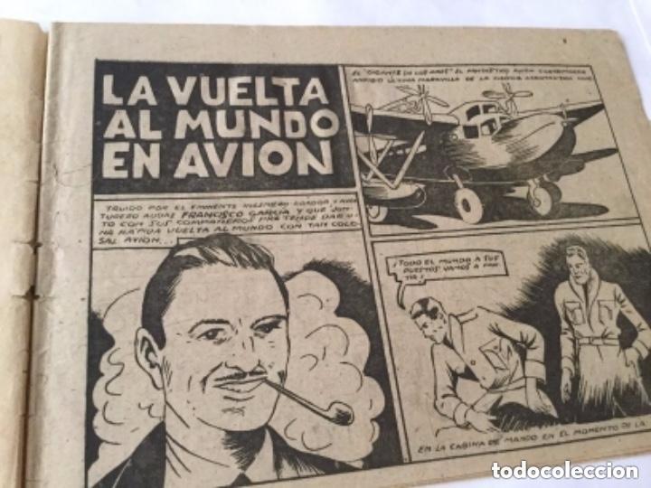 Tebeos: La vuelta al mundo en avión - 60 cts.- 6 hojas y tapas - muy bien conservado- año 1940 - Foto 2 - 182069236
