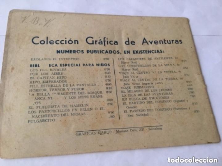 Tebeos: La vuelta al mundo en avión - 60 cts.- 6 hojas y tapas - muy bien conservado- año 1940 - Foto 3 - 182069236