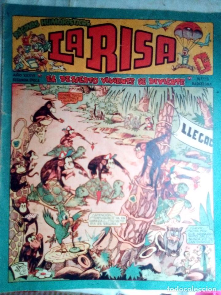 LA RISA - II ÉPOCA- Nº 118 -GRAN FRANCISCO IBÁÑEZ ANTES DE BRUGUERA-RAF-RIZO-1958-DIFÍCIL-2409 (Tebeos y Comics - Marco - La Risa)