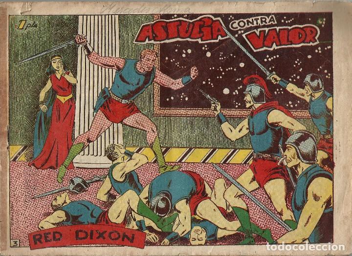 RED DIXON Nº 3 ASTUCIA CONTRA VALOR - ORIGINAL 1ª SERIE A.1954 (Tebeos y Comics - Marco - Red Dixon)