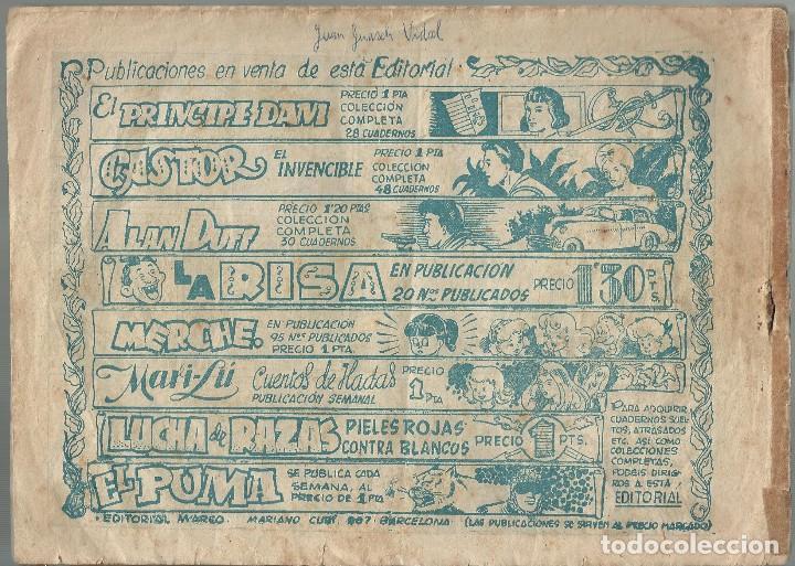 Tebeos: RED DIXON Nº 3 ASTUCIA CONTRA VALOR - original 1ª serie a.1954 - Foto 2 - 184415290