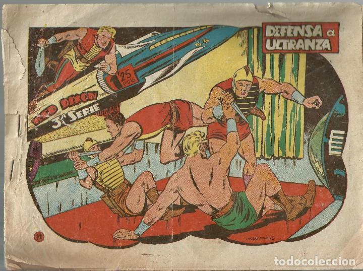 RED DIXON Nº 11 - DEFENSA A ULTRANZA - ORIGINAL 3ª SERIE A.1957 (Tebeos y Comics - Marco - Red Dixon)