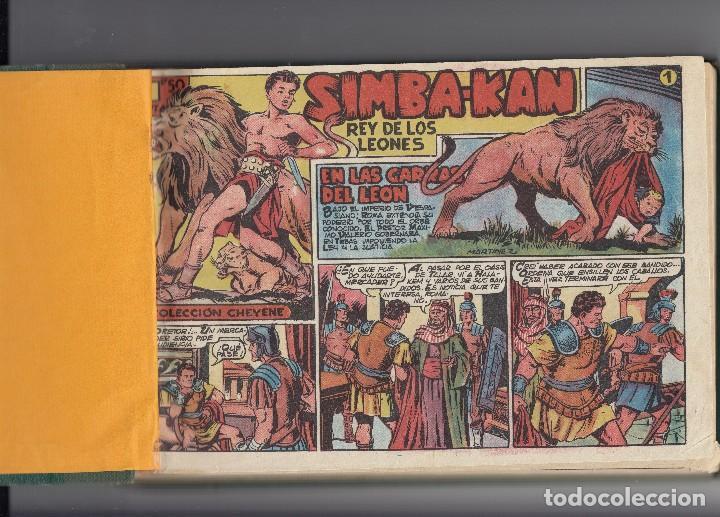SIMBA-KAN. COLECCIÓN DE 21 EJEMPLARES DEL Nº 1 Y 55 ENCUADERNADOS DE ED. MARCO DE 1959. (Tebeos y Comics - Marco - Otros)