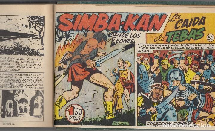 Tebeos: SIMBA-KAN. Colección de 21 ejemplares del nº 1 y 55 encuadernados de Ed. Marco de 1959. - Foto 2 - 185773870