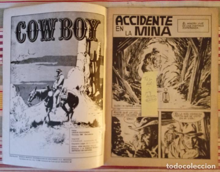 Tebeos: COWBOY - Nº 28 - ACCIDENTE EN LA MINA - URSUS EDICIONES - Foto 2 - 186156711