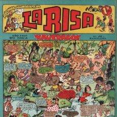 Tebeos: LA RISA-2ª ÉPOCA- Nº 52 -GRAN EMILI BOIX-BEAUMONT-OSETE-JULIO VIVAS-1955-ÚNICO EN TODOCOLEC-LEA-2572. Lote 188742177