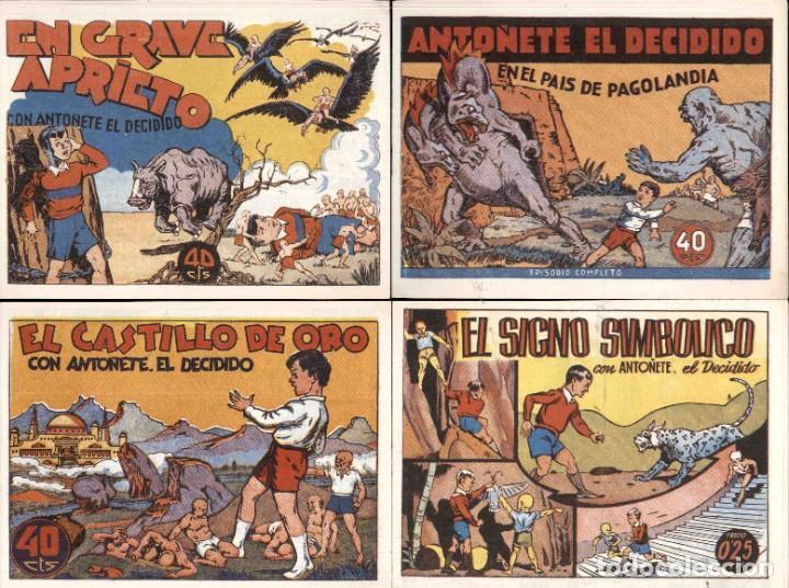 ANTOÑETE EL DECIDIDO (1943, HISPANO AMERICANA) 8 NUMEROS REEDICCION (Tebeos y Comics - Marco - Hipo (Biblioteca especial))