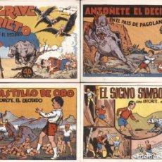Tebeos: ANTOÑETE EL DECIDIDO (1943, HISPANO AMERICANA) 8 NUMEROS REEDICCION. Lote 189761891