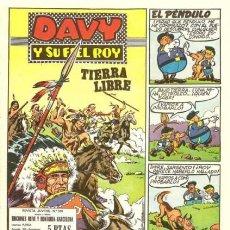 BDs: DAVY Y SU FIEL ROY- Nº 338 - TIERRA LIBRE- 1967-GRAN RIBA COMPTE-ÚNICO EN TC-MUY BUENO-LEAN-3880. Lote 220841683