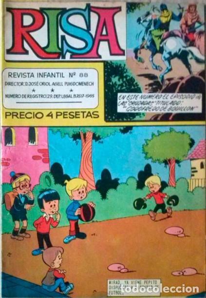 (LA) RISA- Nº 88 - GRAN RAF-RIN TIN TIN-PAÑELLA-J.CASTILLO-1968-BUENO-MUY ESCASO Y DIFÍCIL-3023 (Tebeos y Comics - Marco - La Risa)