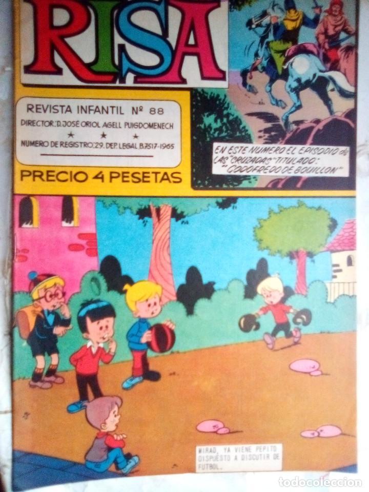 Tebeos: (LA) RISA- Nº 88 - GRAN RAF-RIN TIN TIN-PAÑELLA-J.CASTILLO-1968-BUENO-MUY ESCASO Y DIFÍCIL-3023 - Foto 2 - 192826585