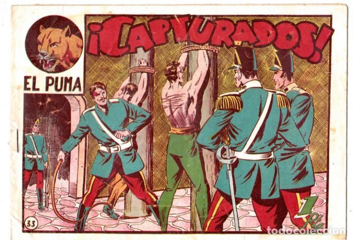 EL PUMA, CAPTURADOS. NUMERO 33. ORIGINAL. (Tebeos y Comics - Marco - Otros)
