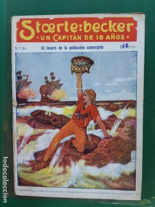 STCERTE: BECKER UN CAPITÁN DE 18 AÑOS Nº 20 AÑO 191? BUEN ESTADO (Tebeos y Comics - Marco - Otros)