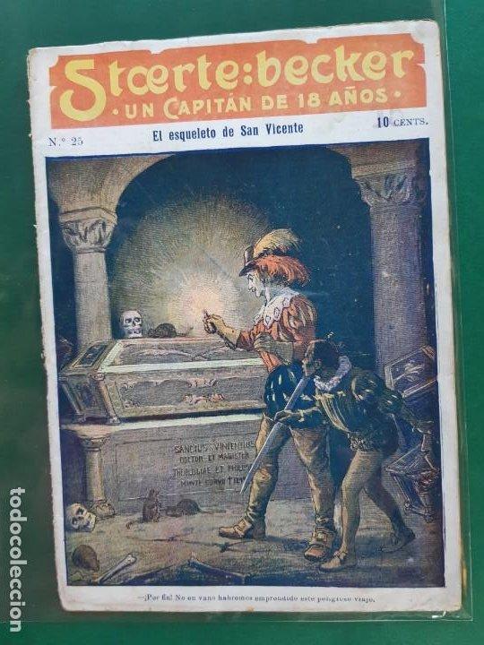 STCERTE: BECKER UN CAPITÁN DE 18 AÑOS Nº 25 AÑO 191? BUEN ESTADO (Tebeos y Comics - Marco - Otros)