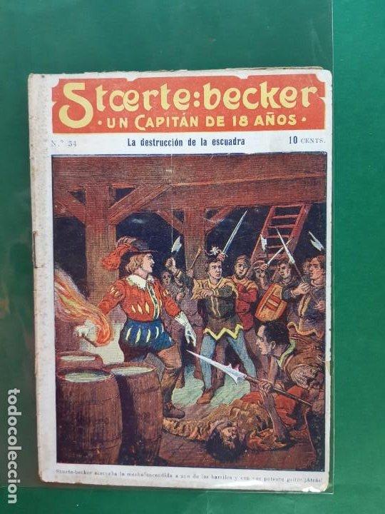 STCERTE: BECKER UN CAPITÁN DE 18 AÑOS Nº 34 AÑO 191? BUEN ESTADO (Tebeos y Comics - Marco - Otros)