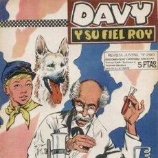 Tebeos: DAVY Y SU FIEL ROY Nº 290 -EL HOMBRE DEL TRUENO -J.ROSELLÓ-J.CASTILLO-CORRECTO-DIFÍCIL-1967-3157. Lote 195202351