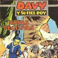 Tebeos: DAVY Y SU FIEL ROY- Nº 317 -HORAS DECISIVAS-1967-GRAN J. ROSELLÓ-BUENO-MUY DIFÍCIL-LEAN-3160. Lote 195206613