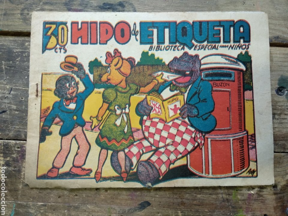 TEBEO HIPO DE ETIQUETA BIBLIOTECA ESPECIAL PARA NIÑOS (Tebeos y Comics - Marco - Hipo (Biblioteca especial))