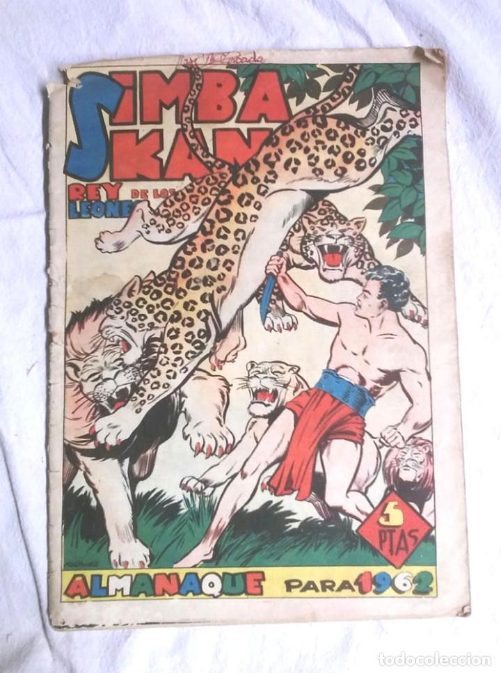 SIMBA KAN REY DE LOS LEONES ALMANAQUE AÑO 1962. EDITORIAL MARCO, ORIGINAL (Tebeos y Comics - Marco - Otros)