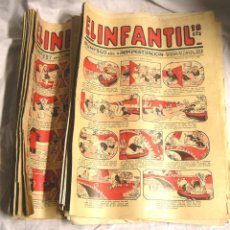 Tebeos: 44 CÓMICS EL INFANTIL AÑOS 20, CONTRAPORTADA RIN TIN TIN, EDIT MARCO, PRECIO UNIDAD, LISTA PUBLICADA. Lote 195359252