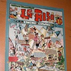Tebeos: LA RISA, 2ª ÉPOCA, Nº 19, CINEMA ESTUDIO. EDITORIAL MARCO, 1953. FALTA LA CONTRAPORTADA. VER ++. Lote 26095318