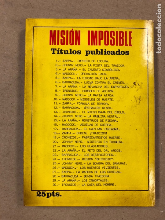 Tebeos: MISIÓN IMPOSIBLE (MARCO IBÉRICA 1971). LOTE DE 10 NÚMEROS (VER EN DESCRIPCIÓN). - Foto 48 - 196915867