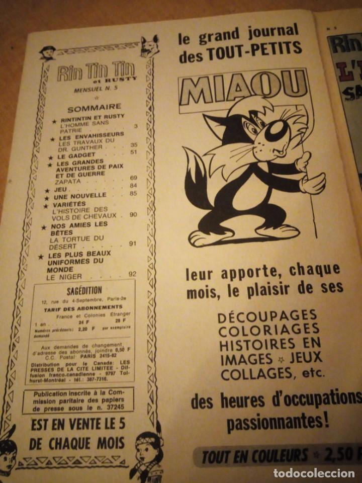 Tebeos: rin tin tin & rusty l´homme sans patrie 1970 nº 5,2ª serie,frances. - Foto 3 - 197501502