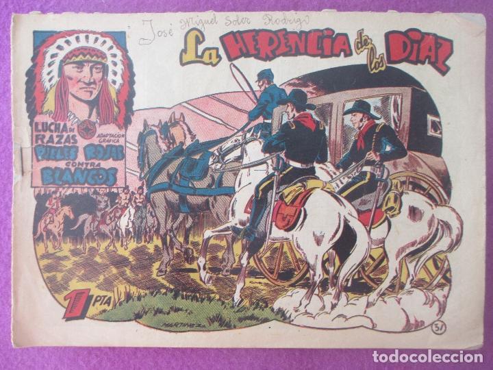 TEBEO LUCHA DE RAZAS PIELES ROJAS CONTRA BLANCOS LA HERENCIA DE LOS DIAZ Nº31 ED. MARCO (Tebeos y Comics - Marco - Otros)
