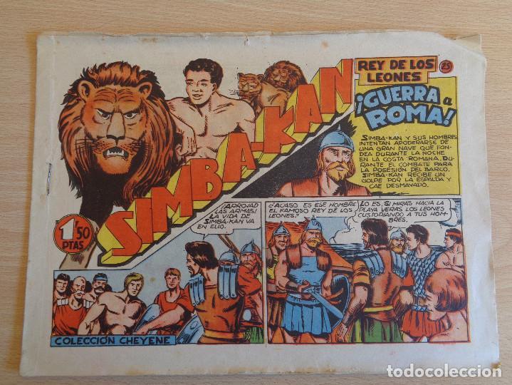 SIMBA KAN Nº 25. ORIGINAL. GUERRA A ROMA. EDITA MARCO (Tebeos y Comics - Marco - Otros)