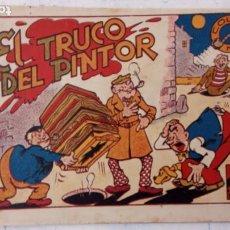 Tebeos: COLECCIÇON PIPA - CARTAPACIO Y SEGUIDILLA ORIGINAL ., EL TRUCO DEL PINTOR, AÑOS 40. Lote 209630826