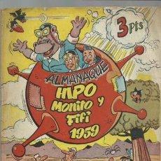 BDs: ALMANAQUE HIPO MONITO Y FIFI, 1959, MARCO, USADO. COLECCIÓN A.T.. Lote 212756577