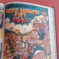 BDs: 2O NÚMEROS HIPO ,MONITO Y FIFI - INCLUYE ALMANAQUE 1954 - 13 NÚMEROS - LA RISA - MARCO. Lote 213080245