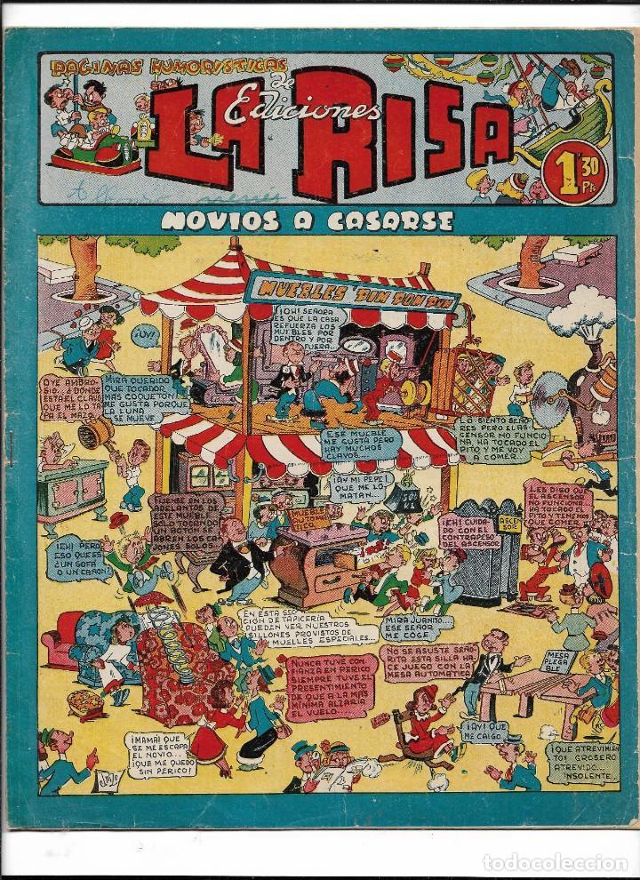 LA RISA, AÑOS 1952 - 1962 LOTE DE 91. TEBEOS SON ORIGINALES ESTA EL Nº 1 Y Nº 226. (Tebeos y Comics - Marco - La Risa)