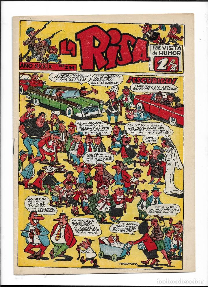 Tebeos: La Risa, Años 1952 - 1962 Lote de 91. Tebeos son Originales esta el Nº 1 y Nº 226. - Foto 3 - 213394252