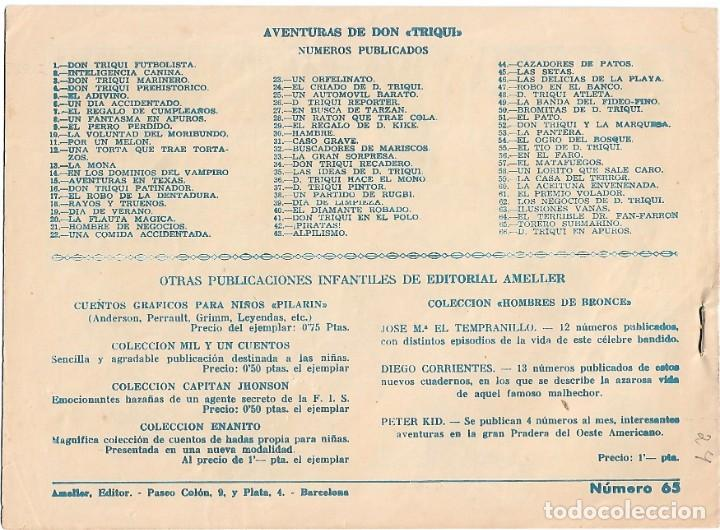 Tebeos: DON TRIQUI Nº 65, AMELLER 1949 DE 1 PTS -IMPORTANTE LEER DESCRIPCION Y VER FOTOS - Foto 2 - 214325090