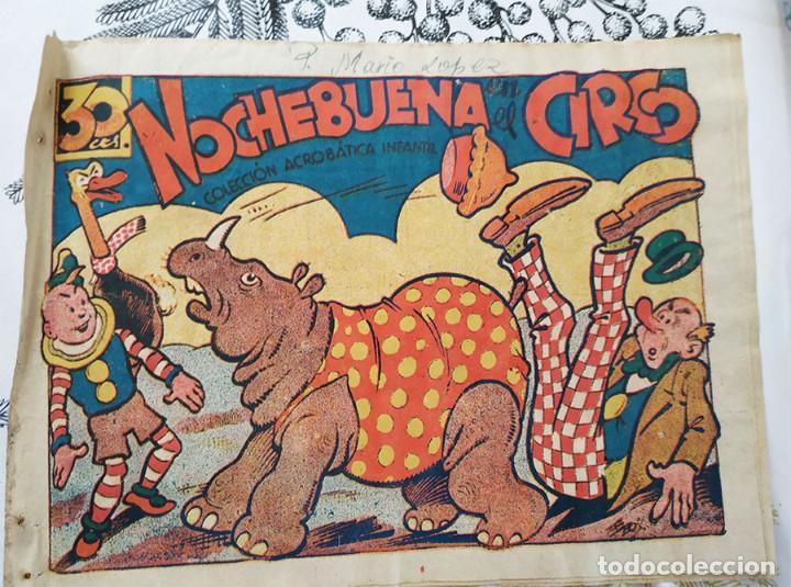NOCHEBUENA EN EL CIRCO COLECCION ACROBATICA INFANTIL E. BOIX ED. MARCO 1942 (Tebeos y Comics - Marco - Acrobática Infantil)