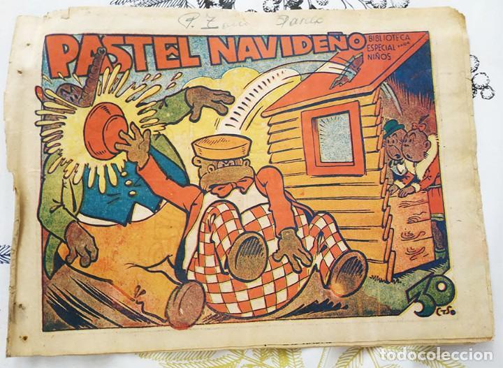 HIPO PASTEL NAVIDEÑO BIBLIOTECA ESPECIAL PARA NIÑOS ED.. MARCO ORIGINAL DE EPOCA (Tebeos y Comics - Marco - Hipo (Biblioteca especial))