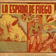 Giornalini: JAIME BAZÁN: LA ESPADA DE FUEGO (MARCO, 1940) COL. GRAFICA DE BIBLIOTECA LA RISA, DE ALFONS FIGUERAS. Lote 221509561