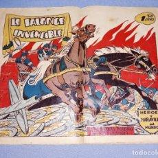 Tebeos: LA FALANGE INVENCIBLE HEROES Y MARAVILLAS DEL MUNDO EDITORIAL MARCO ORIGINAL AÑO 1954 COMPLETO. Lote 221590786
