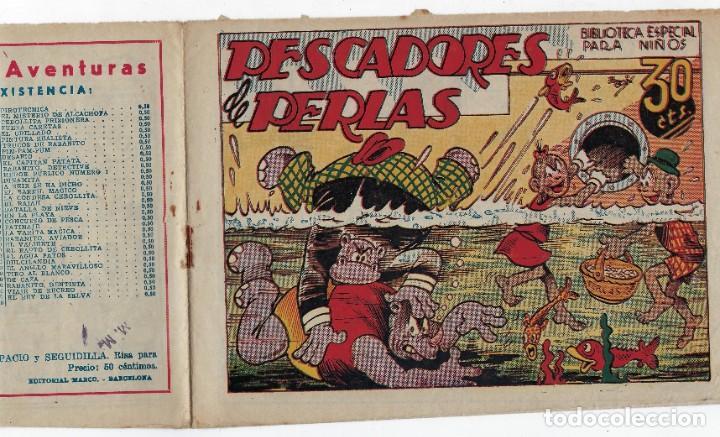 Tebeos: BIBLIOTECA ESPECIAL PARA NIÑOS: PESCADORES DE PERLAS - 1942 - ORIGINAL ***EDITORIAL MARCO *** - Foto 3 - 222015432