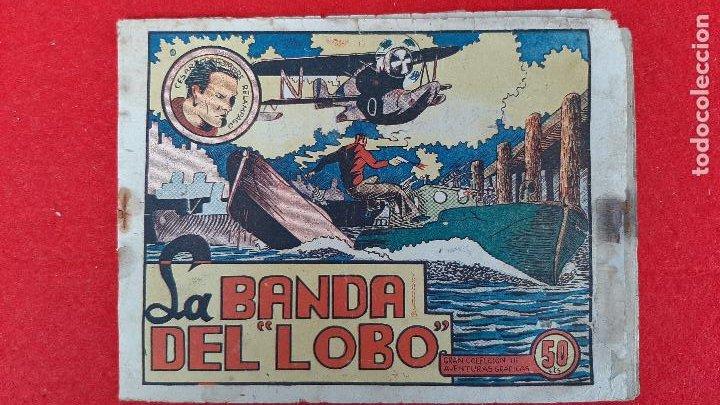 LA BANDA DEL LOBO CESAR EL HOMBRE RELAMPAGO Nº 1 MARCO ANTIGUO ORIGINAL CT3 (Tebeos y Comics - Marco - Otros)