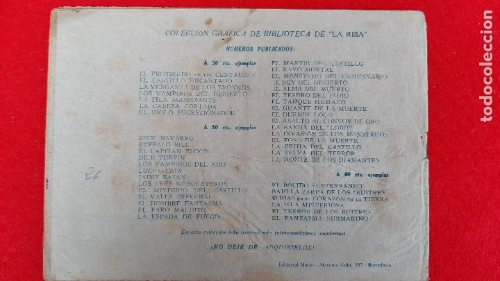 Tebeos: LOS SERVIDORES DE LA MUERTE COLECCION GRAFICA MARCO ANTIGUO ORIGINAL CT3 - Foto 2 - 226851765