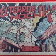 Tebeos: EL TERROR DE LA NOCHE CESAR EL HOMBRE RELAMPAGO AVENTURAS GRAFICAS MARCO ANTIGUO ORIGINAL CT3. Lote 226853950