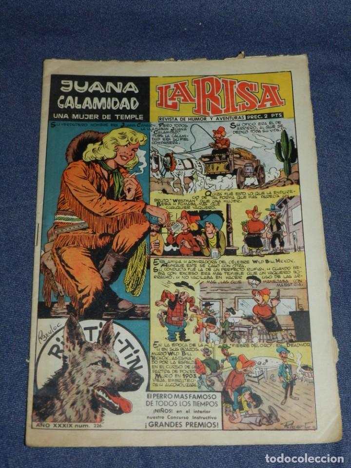 (M0) LA RISA AÑO XXXIX N.226 JUANA CALAMIDAD - EDT MARCO 1958, SEÑALES DE USO NORMALES (Tebeos y Comics - Marco - La Risa)
