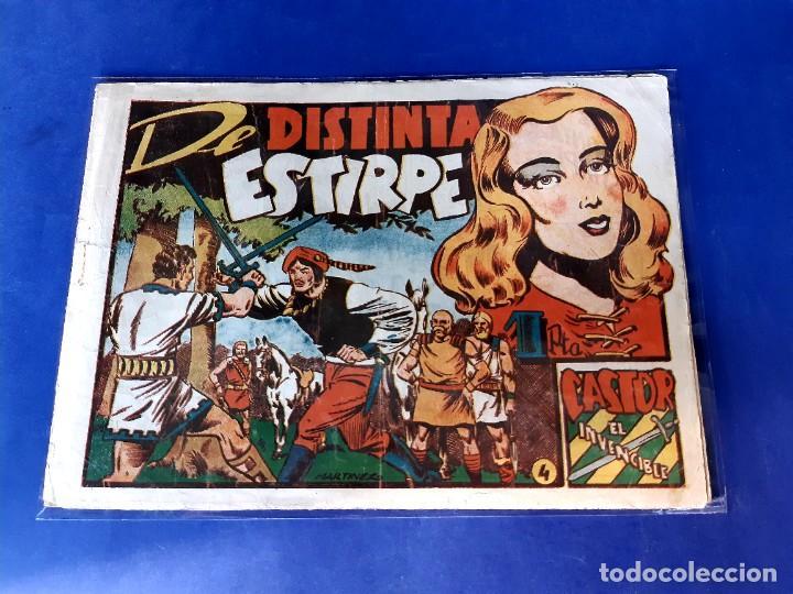 CASTOR EL INVENCIBLE Nº 4 EDITORIAL MARCO 1951-NORMAL ESTADO (Tebeos y Comics - Marco - Castor el Invencible)