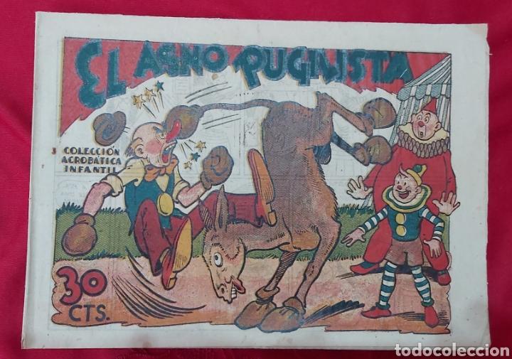 TEBEO EL ASNO PUGILISTA. COLECCIÓN ACROBÁTICA INFANTIL. EDITORIAL MARCO 1942 (Tebeos y Comics - Marco - Acrobática Infantil)
