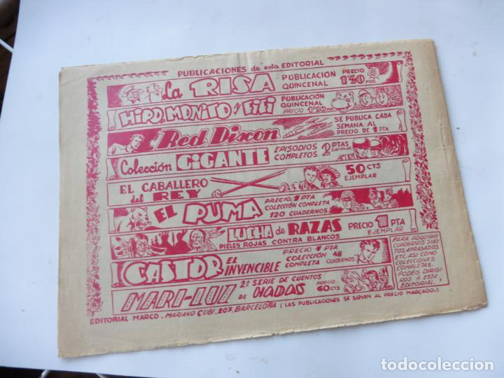 Tebeos: RED DIXON 1ª SERIE Nº67 MARCO ORIGINAL - Foto 2 - 232461835