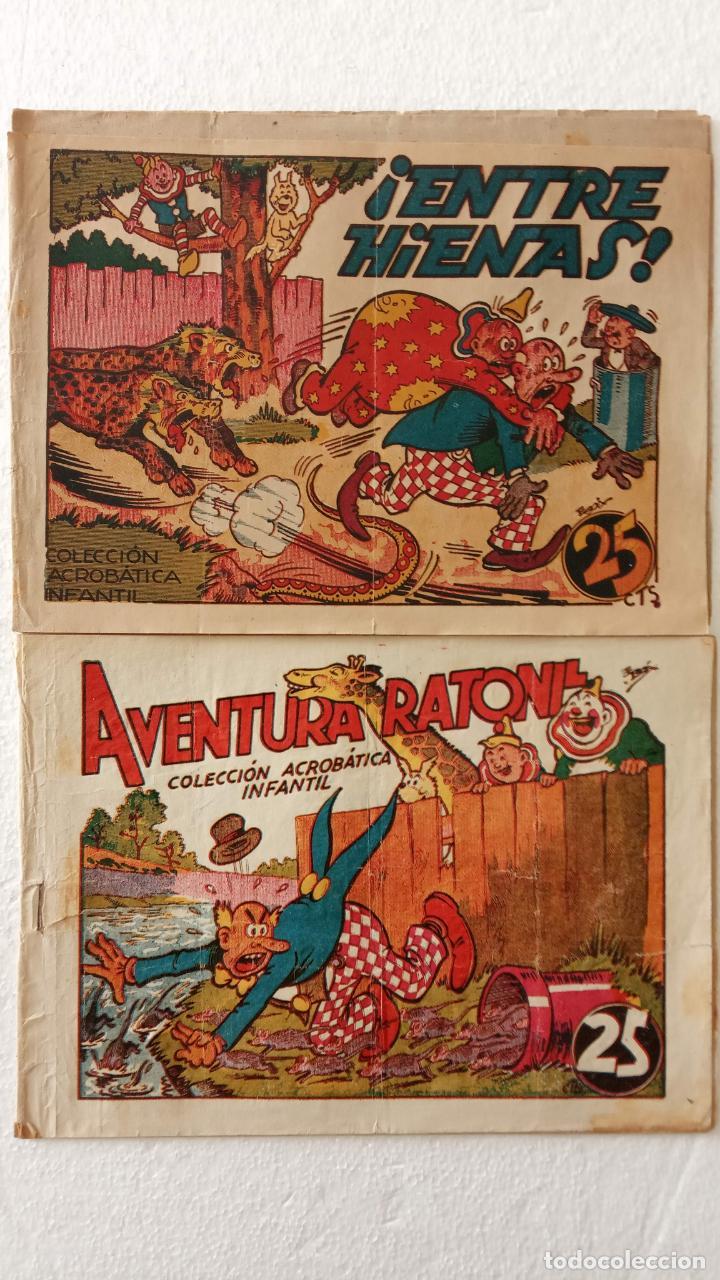 PIRULO Y TONTOLOTE - ACROBÁTICA INFANTIL EDI. MATCO 1942 - E. BOIX, ORIGINALES (Tebeos y Comics - Marco - Acrobática Infantil)