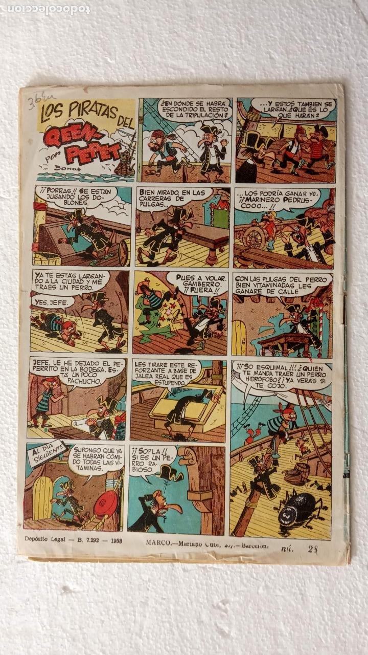 Tebeos: HIPO Nº 28 ORIGINAL - 1958 EDI. MARCO - F. IBAÑEZ ( MELENAS ) AYNÉ, J.MAX, TORÁ, KITO, SPARCH, BONO - Foto 7 - 234492935
