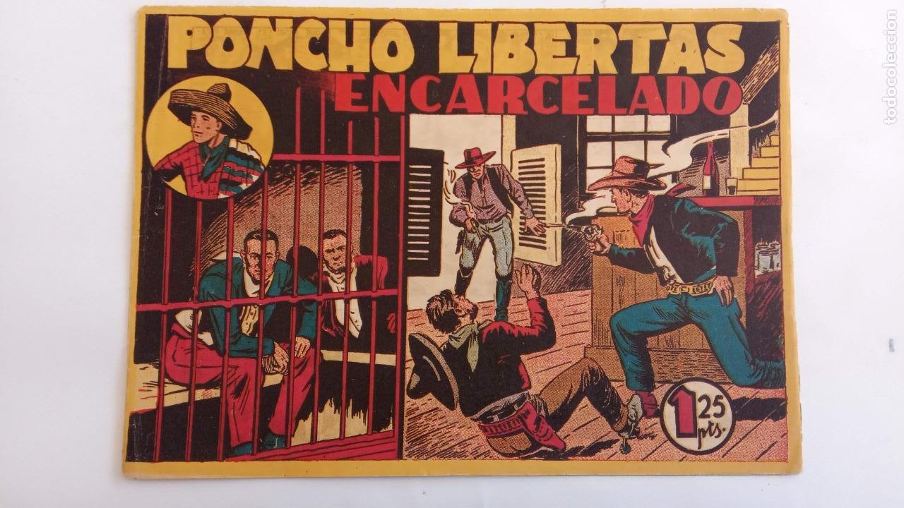 Tebeos: PONCHO LIBERTAS ORIGINALES NºS - 4,6,9,11,12 ÚLTIMO - EDI. MARCO 1945, MUY BUEN ESTADO, LE RALLIC - Foto 3 - 234582740